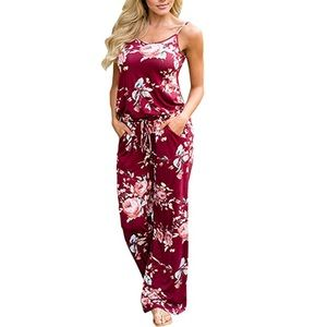 Pants - Beautiful women jumpsuit with pockets